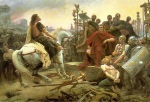 Vercingetorix Throws Down his Arms at the Feet of Julius Caesar (1899), Lionel Royer